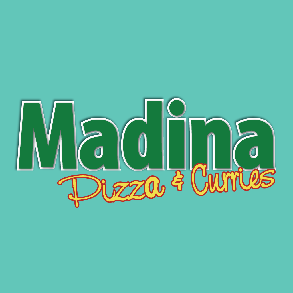 Madina Pizza and Curries Online Takeaway Menu Logo