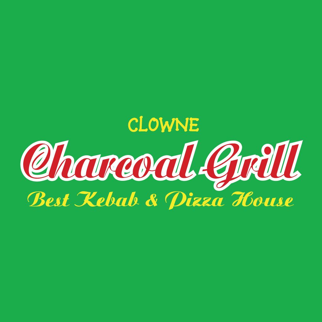 Clowne Charcoal Grill Online Takeaway Menu Logo