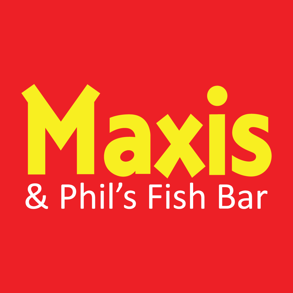 Maxis Pizza and Phils Fish Bar Takeaway Logo