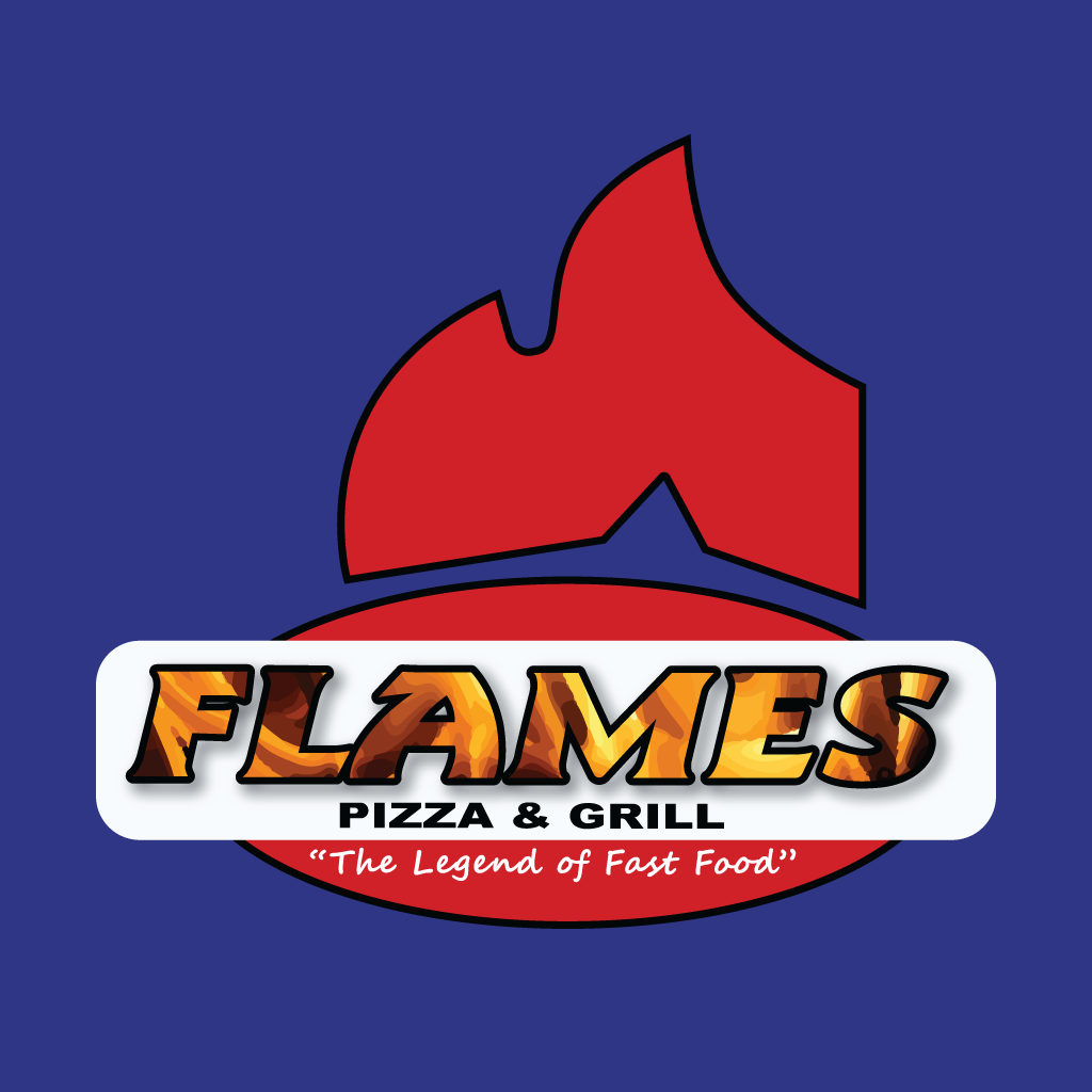 Flames Pizza & Grill Online Takeaway Menu Logo