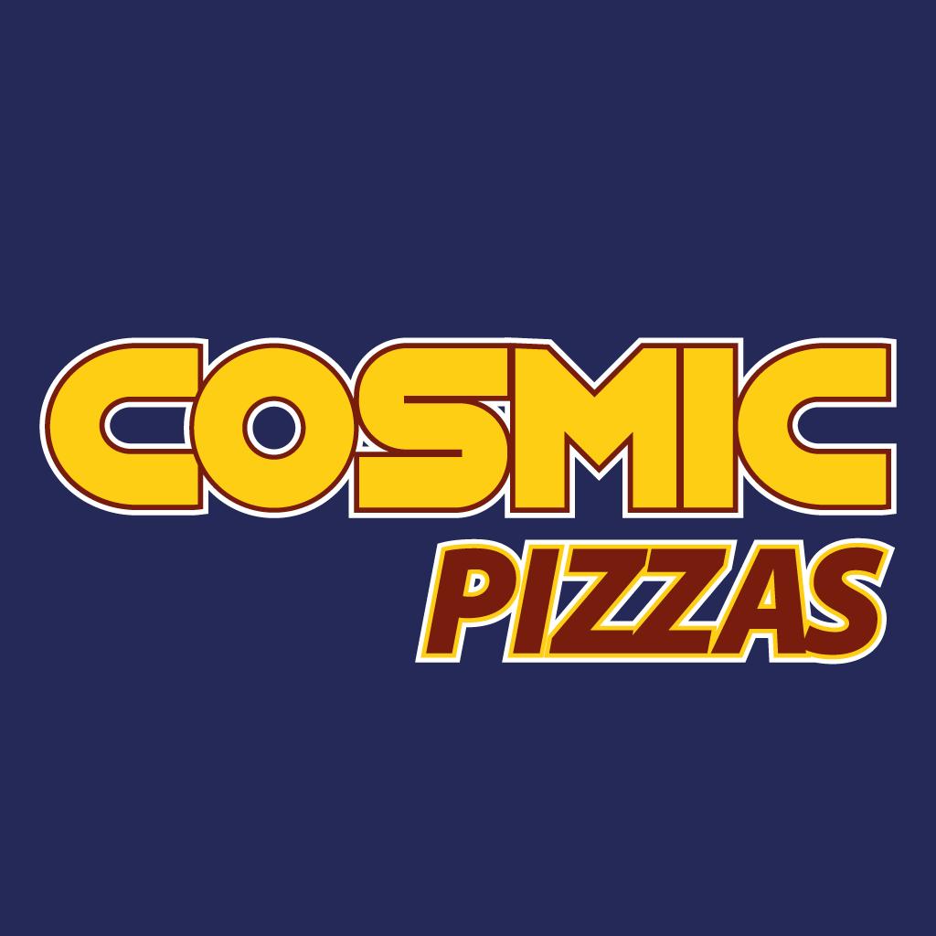 Cosmic Pizzas Online Takeaway Menu Logo