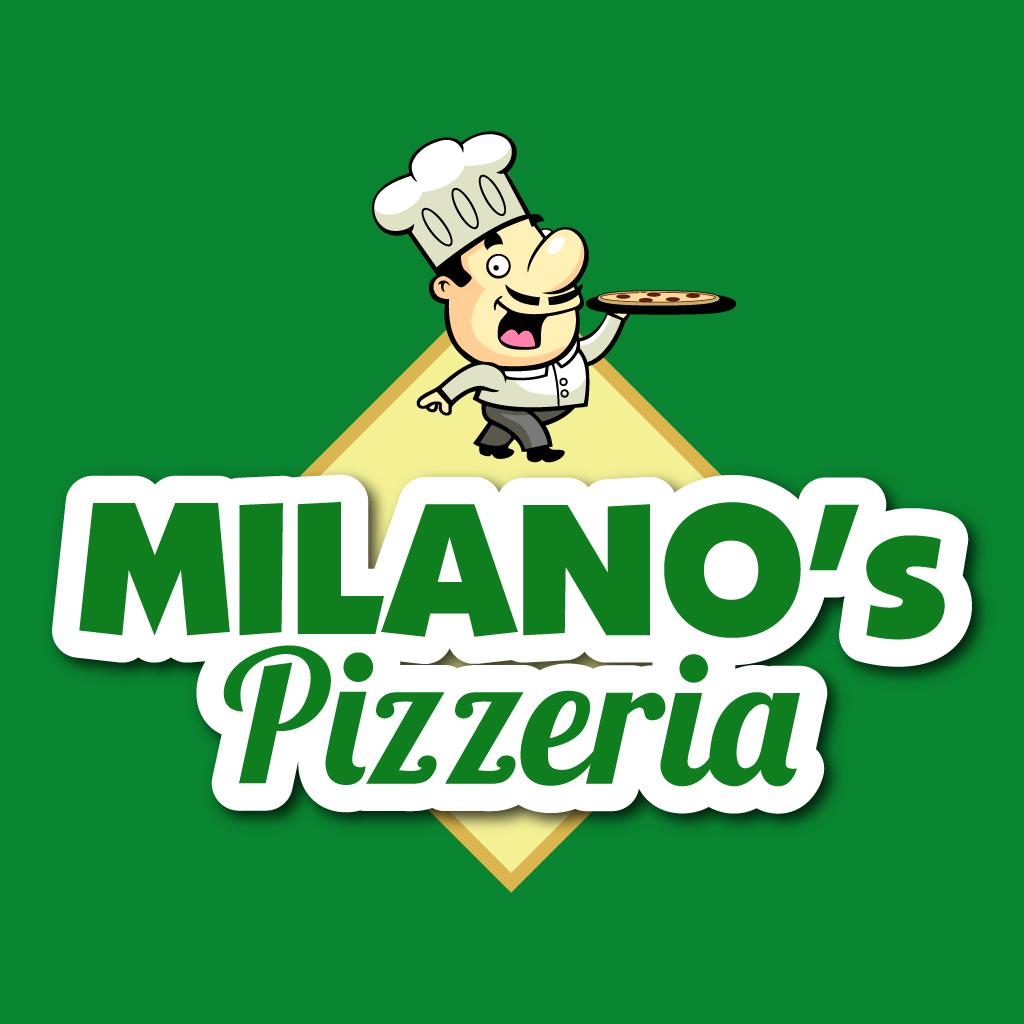 Milanos Pizzeria Online Takeaway Menu Logo