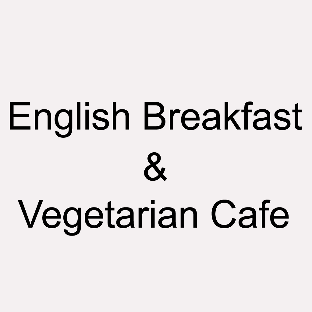 English Breakfast & Vegetarian Cafe Online Takeaway Menu Logo