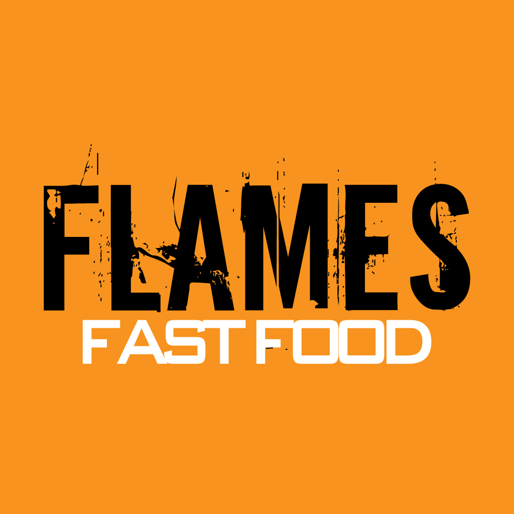 Flames Fast Food Online Takeaway Menu Logo