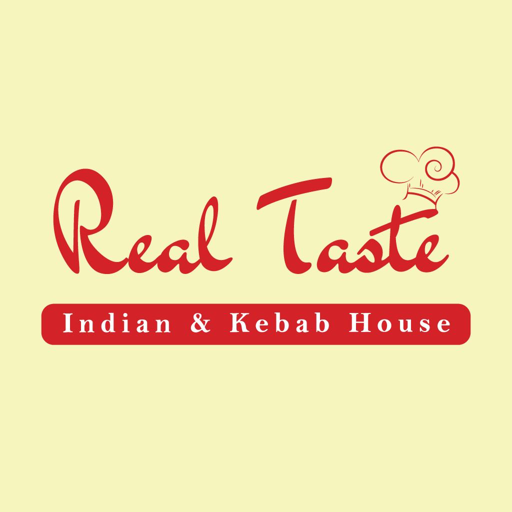 Real Taste Indian Kebab Fast Food Online Takeaway Menu Logo
