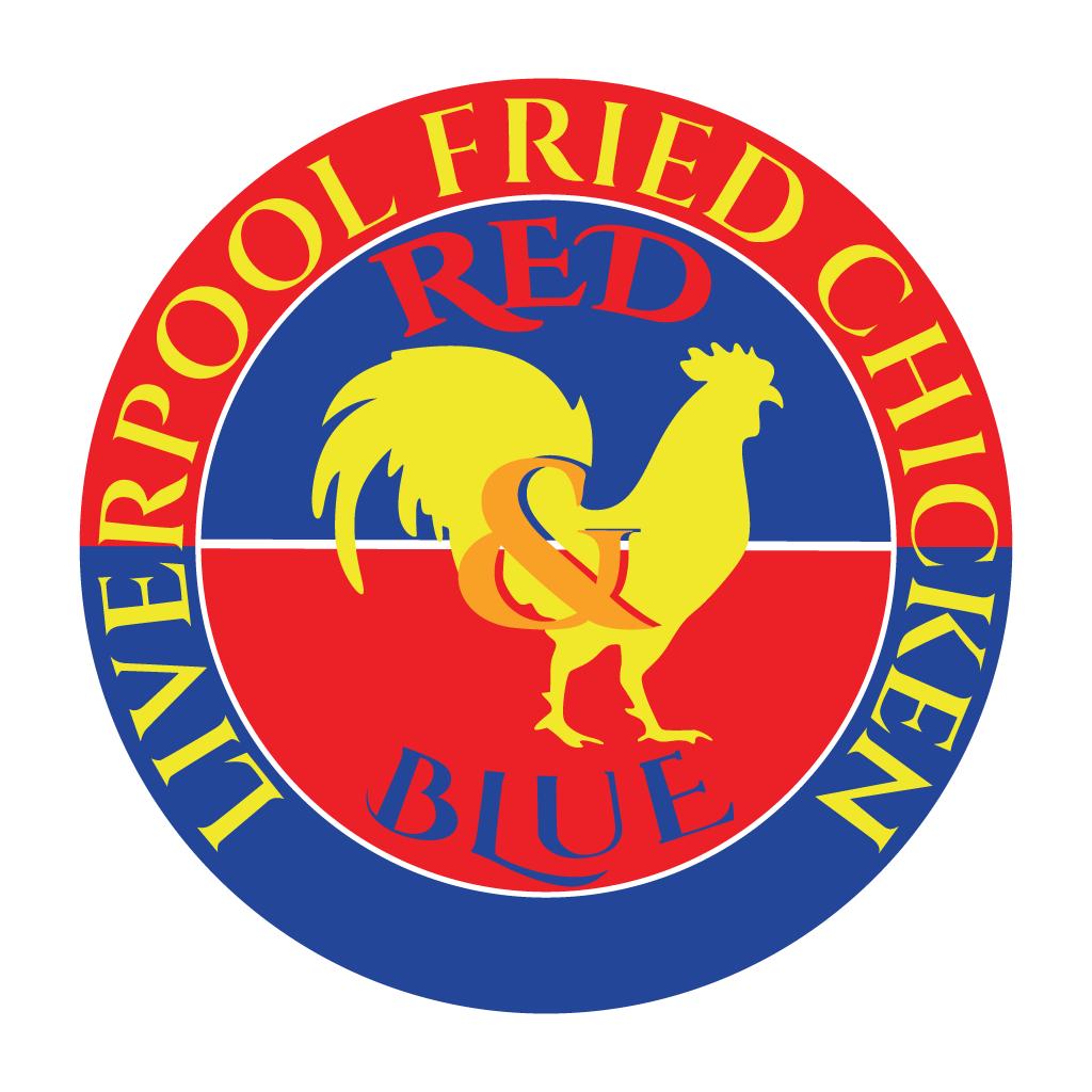 Red & Blue Fried Chicken Online Takeaway Menu Logo