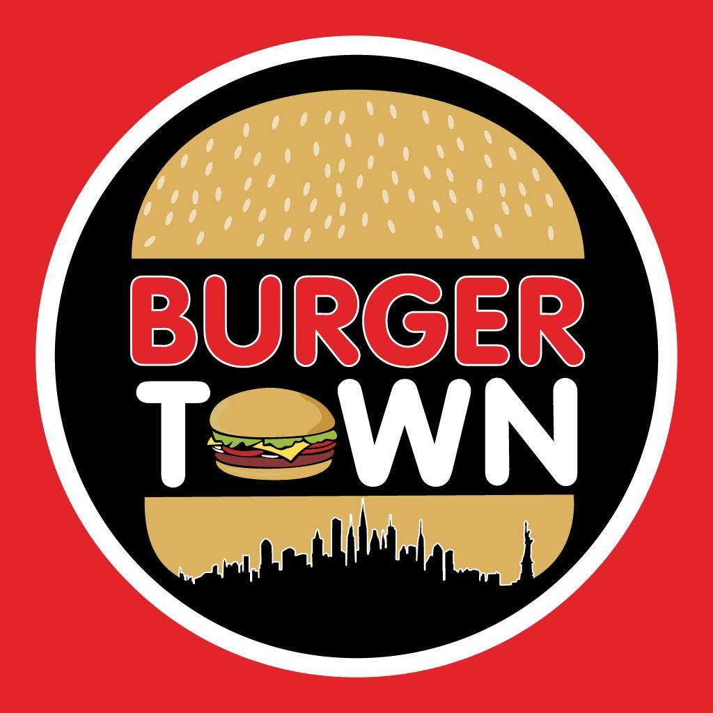 Burger Town  Takeaway Logo