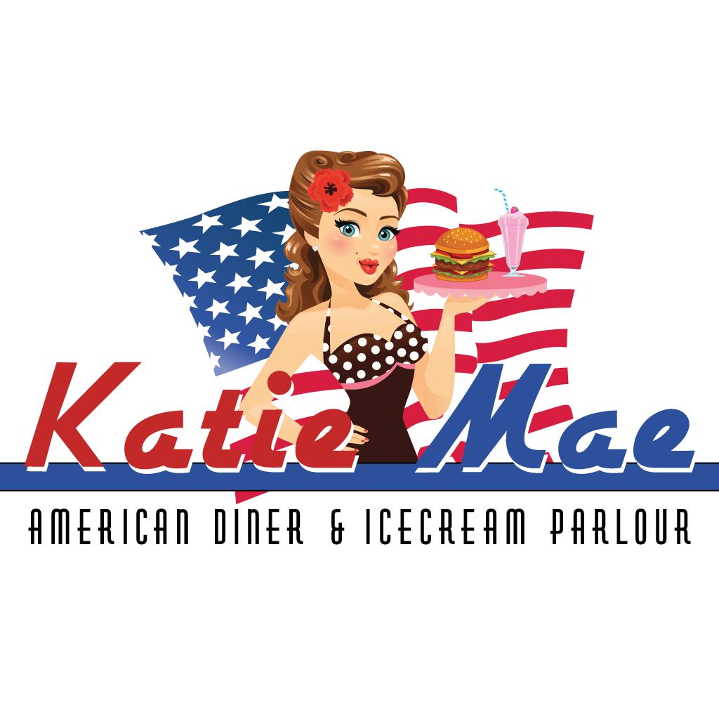 Katie Mae American Diner & Ice Cream Pa... Online Takeaway Menu Logo