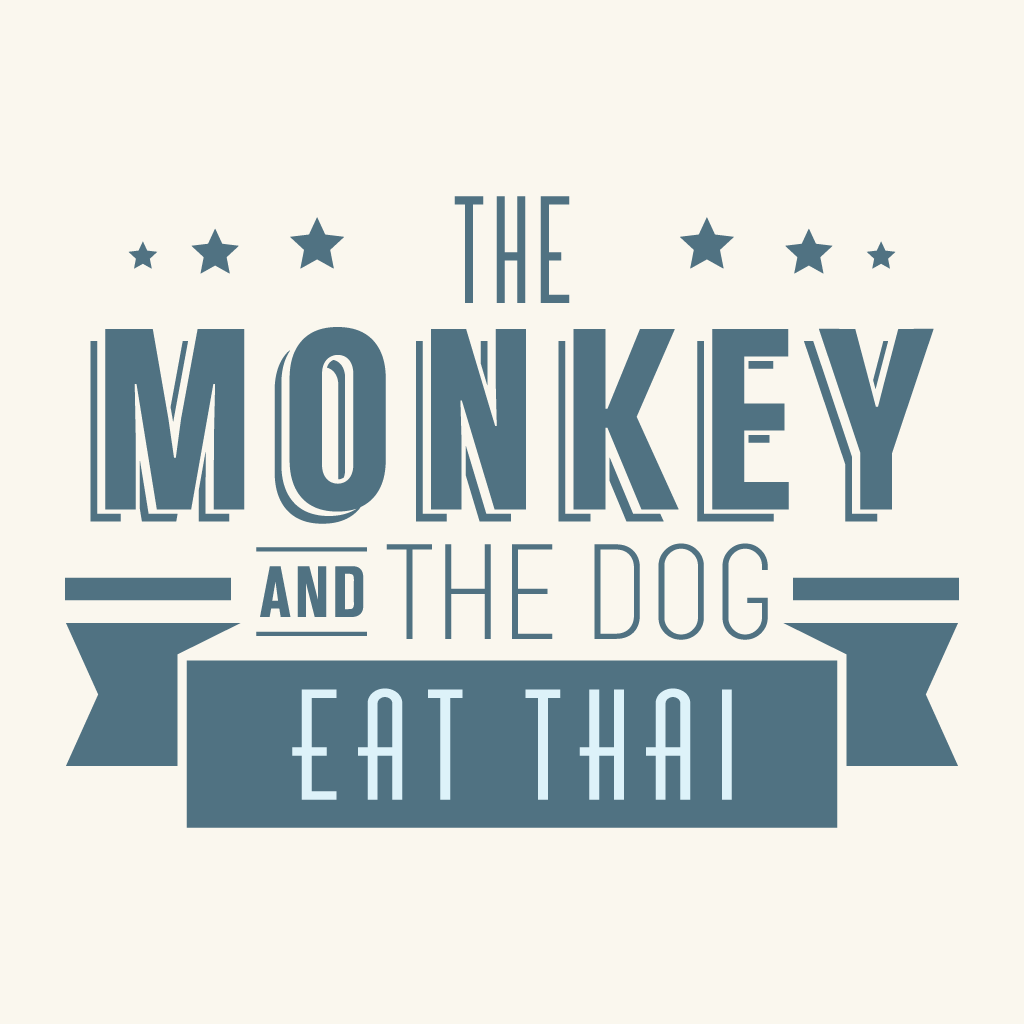 The Monkey And The Dog Eat Thai Online Takeaway Menu Logo