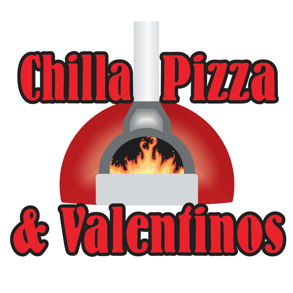 Chilla and Valentinos Pizza Online Takeaway Menu Logo