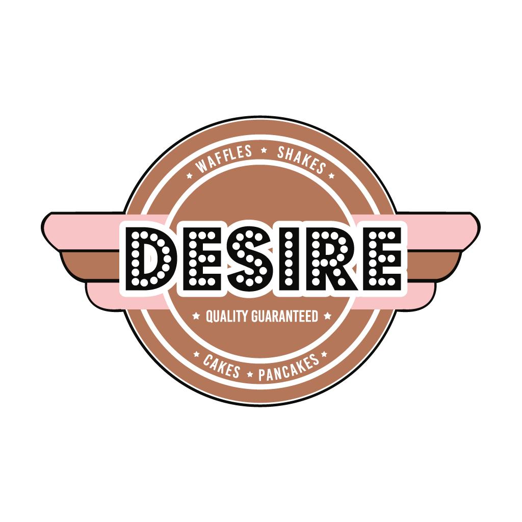 Desire Desserts Online Takeaway Menu Logo