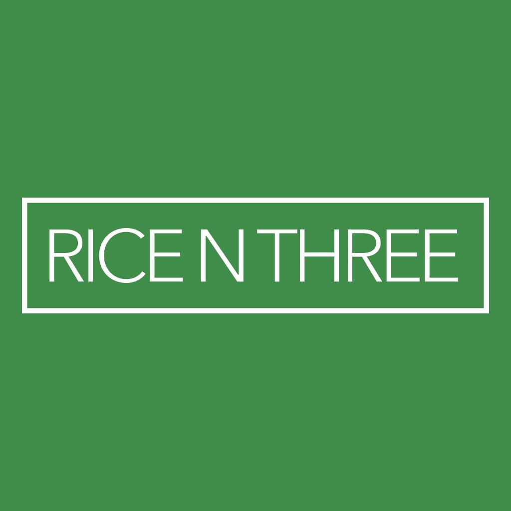 Rice N Three Online Takeaway Menu Logo