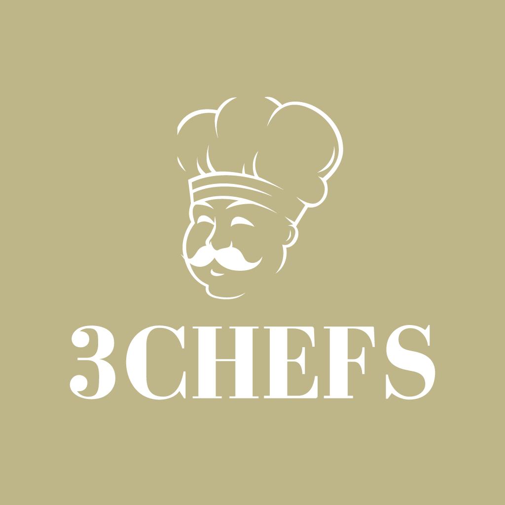 3 Chefs  Online Takeaway Menu Logo