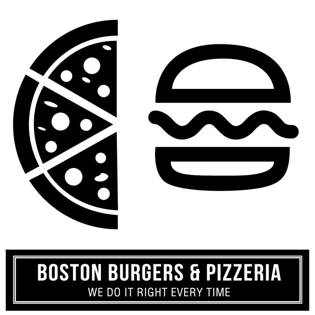 Boston Burgers & Pizzeria Online Takeaway Menu Logo