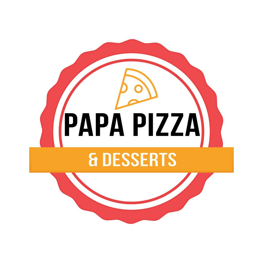 Papa Pizza and Desserts  Online Takeaway Menu Logo