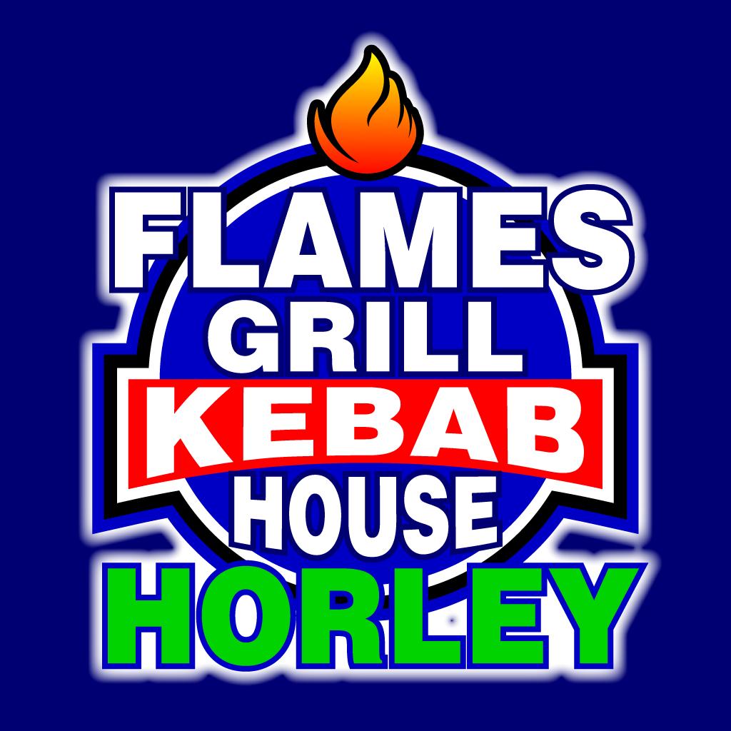 Flames Grill Kebab House Horley Online Takeaway Menu Logo
