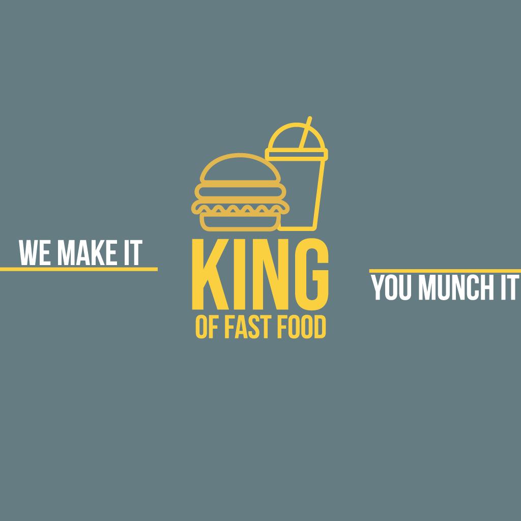 King of Fast Food Washington  Online Takeaway Menu Logo