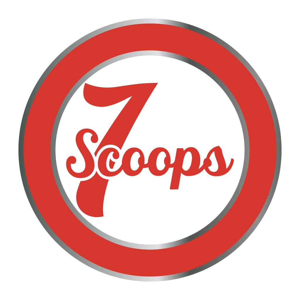7 Scoops Online Takeaway Menu Logo