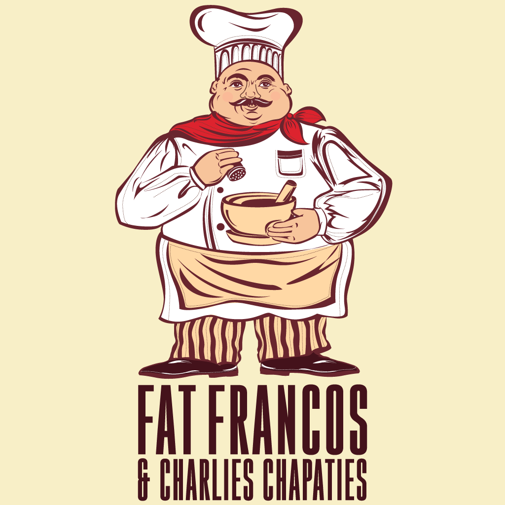 Fat Francos and Charlies Chapaties Online Takeaway Menu Logo